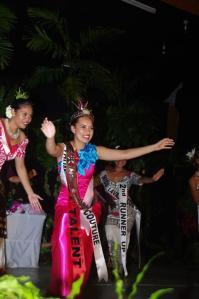Janine immediately after her crowning and just before her SivaPhoto courtesy of Miss Samoa and Samoa Tourism Authority