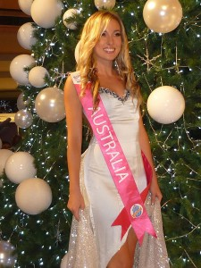 Myffy Scadden-McHugh at the Miss Tourism International pageant in 2011