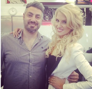 Erin with cosmetics tycoon Frank Ciccone of Ciccone Cosmetics and Smash It